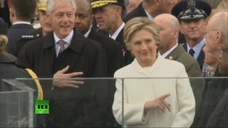 Hillary Clinton at the Inauguration 01/20/2017 All moments