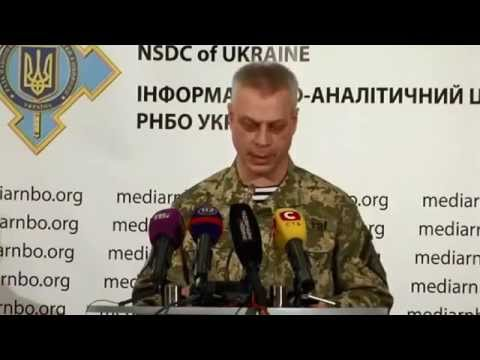 12th Nov 2014 Military operation in eastern Ukraine - ATO - RNBO Ukraine Crisis Media Center