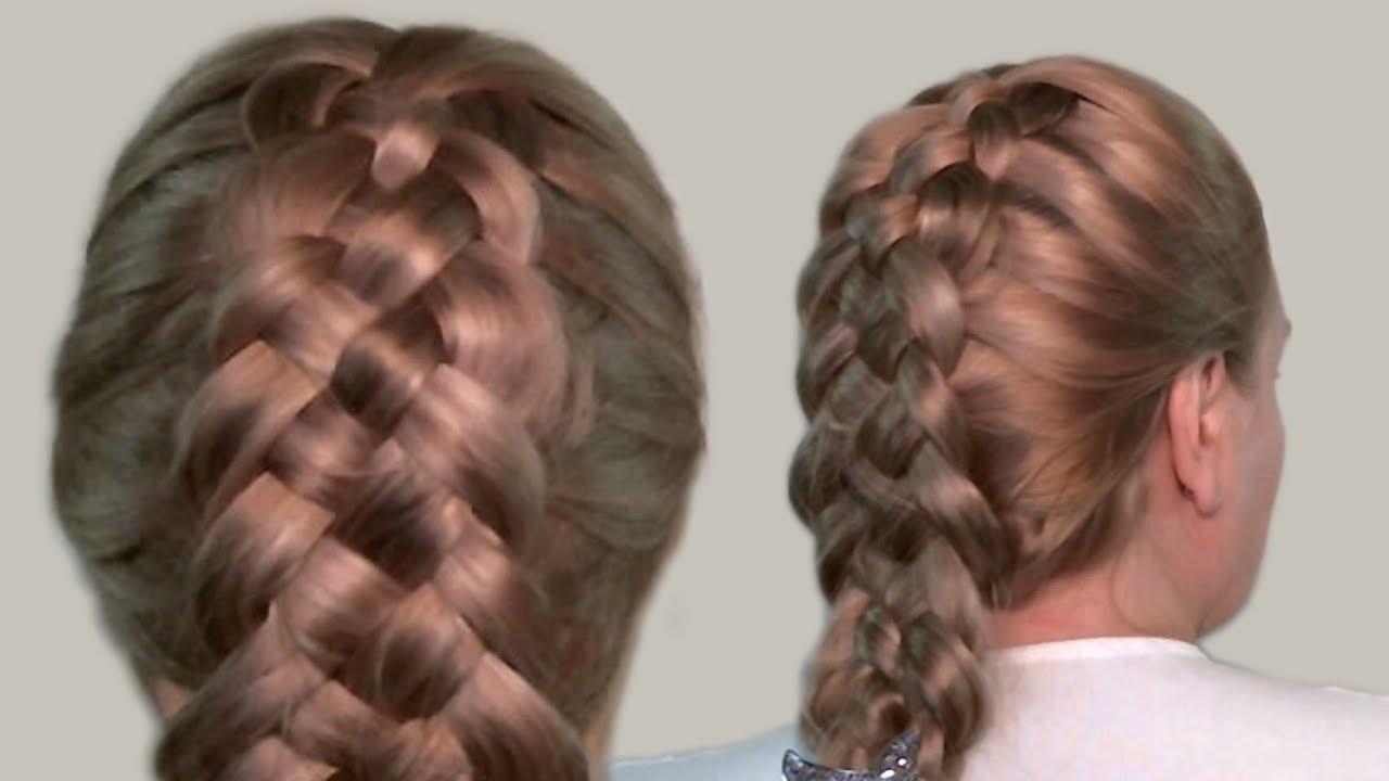 Прически с косами на средние и длинные волосы