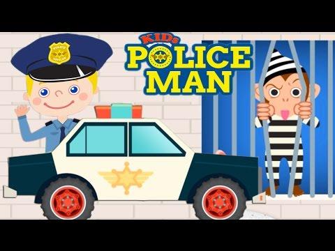 ПОЛИЦЕЙСКИЙ ЛОВИТ НАРУШИТЕЛЕЙ. Полиция с мигалкой. Полицейская машина детям. Полицейский мультик.
