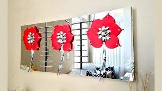 Diy Wall Mirror Craft Decor  Inexpensive Wall Decorating idea!