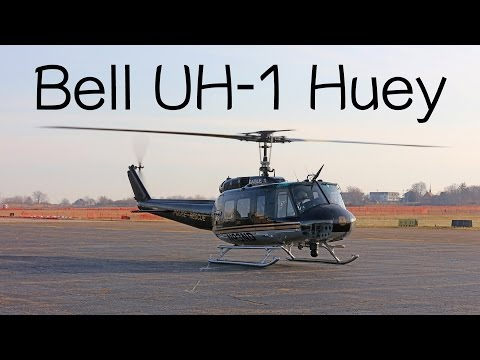 Bell UH-1 Iroquois Huey police rescue helicopter review + how to fly a helicopter