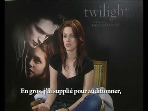 Teemix, Kristen Stewart Interview (1/4): Twilight old and news scripts. French HQ video