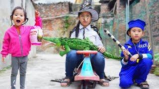Trò Chơi Phù Thủy Trộm Trứng Khủng Long  - Bé Nhím TV - Đồ Chơi Trẻ Em Thiếu Nhi