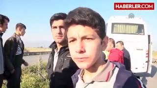 Öğrenci Servisi Kamyona Çarptı  7 Yaralı