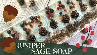Making Juniper & Sage Cold Process Soap | 🌲 GYPSYFAE CREATIONS