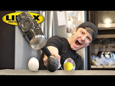 THIS SPRAY MAKES ANYTHING UNBREAKABLE!! (LINE-X EGG EXPERIMENT) As Seen On TV Test! thumbnail