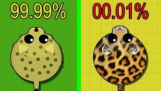 Mope.io *NEW* 1 HOUR LUCK CHALLENGE! RARE ANIMALS WORLD RECORD!? How Many Rare Animals Can I get?
