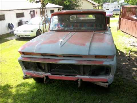 1965 Chevy c-10 Resoration project and cold start video!!! Inline-6. 3 speed manual