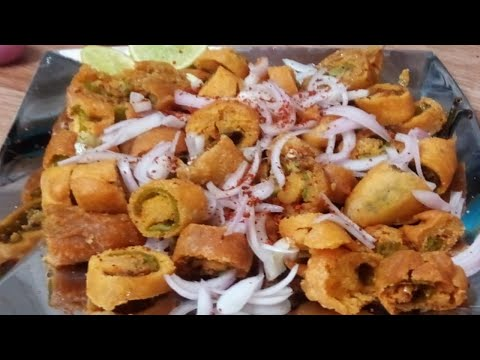 బజ్జిలను ఇలాగ కట్ చేసి పోకుడి లాగా వేసి పెట్టండి రోజు చెయ్యమని అడుగుతారు || Mirchi Bajji street food
