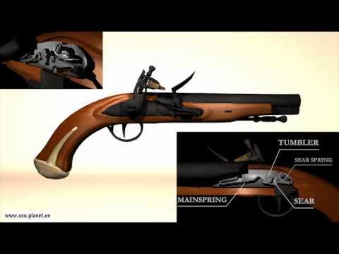 Flintlock pistol 3D animation