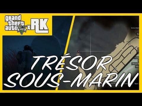 GTA 5 : Trouver le trésor sous-marin! CARTE - Trésor 1/100 - PS3 HD Français - xRK