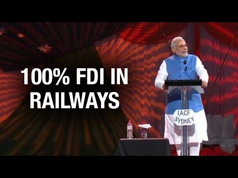 PM Modi at Allphones Arena: We allowed 100% FDI in railways to develop Indian rail network