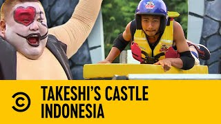 Curtain Guy Has Proven Us Wrong On The Slip Way | Takeshi's Castle Indonesia