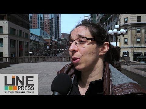Point presse manifestation anticapilaliste : Police et CLAC / Montréal - Canada 29 avril 2014