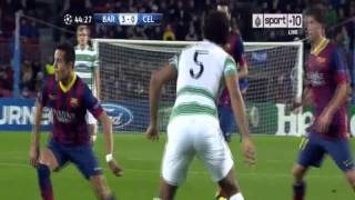 BARCELONA Vs CELTIC 6-1 (11-12-13) Neymar Hattrick - Highlights All Goals 2013