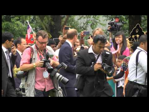 The Duke and Duchess of Cambridge visit to Kuala Lumpur Malaysia (Part 1/3- Full video)