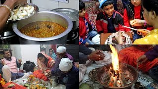 Making Special Party food || Matar Paneer, Chhole || pooja at home || One more birthday party 2019||