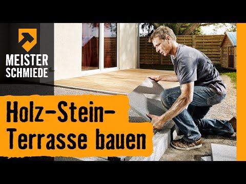Holz-Stein-Terrasse bauen | HORNBACH Meisterschmiede