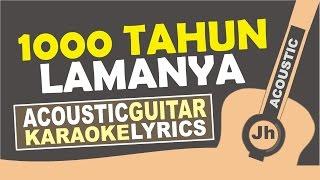 download lagu Tulus - 1000 Tahun Lamanya Acoustic Karaoke Version gratis