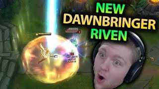 NEW DAWNBRINGER RIVEN SKIN GAMEPLAY!! THIS SKIN IS INCREDIBLE!! - PBE League of Legends
