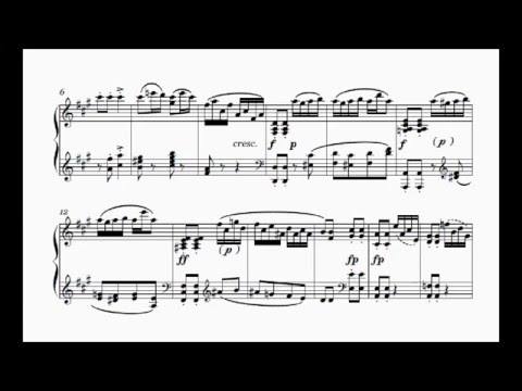 Шуберт Франц - Works for piano solo D.347  Allegretto moderato C-dur, (fragment)