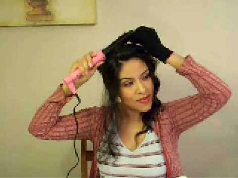 Quick hair style using Enzo Milano Clipless Curling Iron