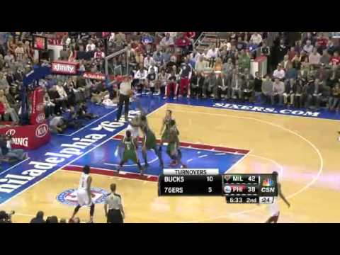 Milwaukee Bucks vs. Philadelphia Sixers First Half Highlights 12 November 2012