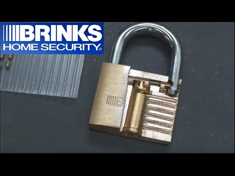 (37) Brinks 50mm Padlock Milled into a Cutaway