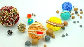DIY How to make Solar System Planets & its Moons How many Moons in Universe Learn Colors