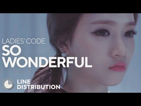 LADIES' CODE - So Wonderful (Line Distribution)