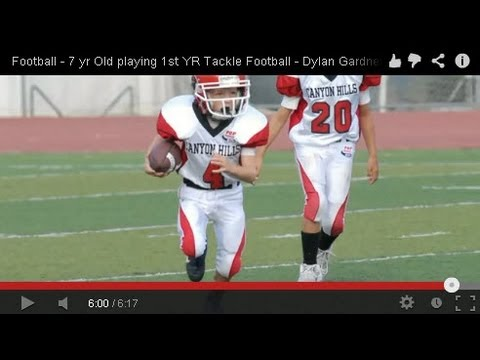 Follow up from last year's Flag video. Dylan ended up playing Running Back on offense and outside linebacker on Defense. Depending upon who was in the game, he would sometimes play safety....