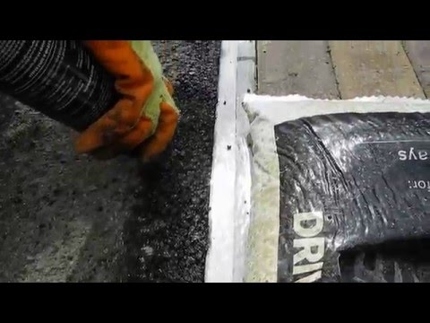 How to repair #asphalt #pothole in #driveway and walkway by Hanson cold tarmac