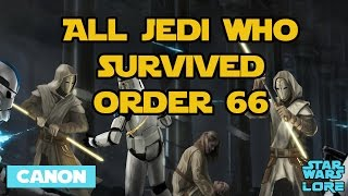 Every Jedi Who Survived Order 66 (CANON) - Star Wars Lore