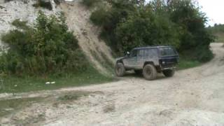 jeep Cherokee XJ off road Devils Pit hill climb rock crawl extreme fun