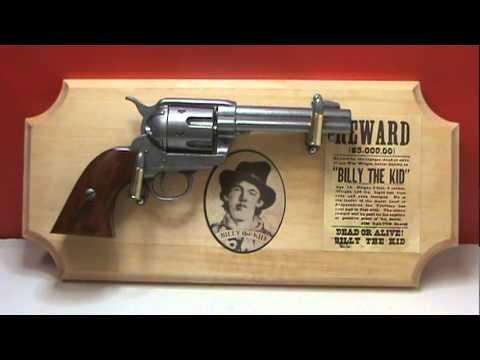 Billy the Kid Deluxe Framed Pistol Set mpg - YouTube