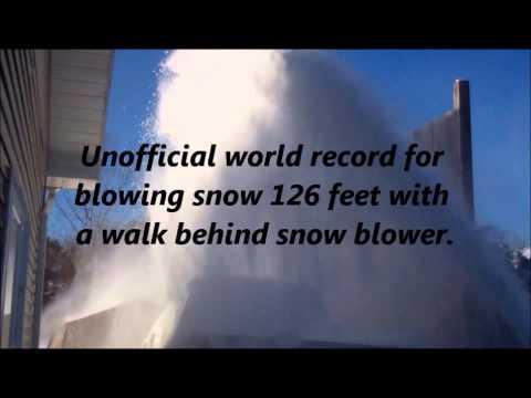 V8 snowblower 126 feet.