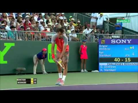 Grigor Dimitrov vs Kei Nishikori 2014 Miami( Full Match)
