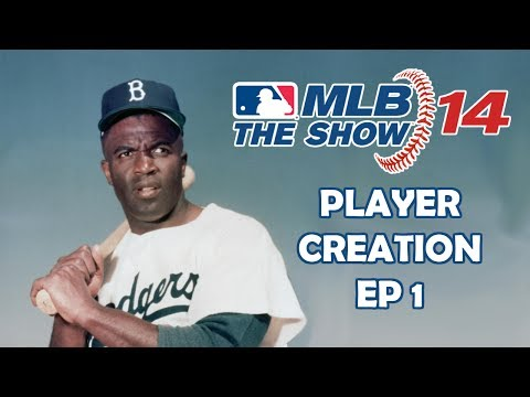 PLAYER CREATION - MLB 14: The Show - Jackie Robinson: Road to the Show - Episode 1