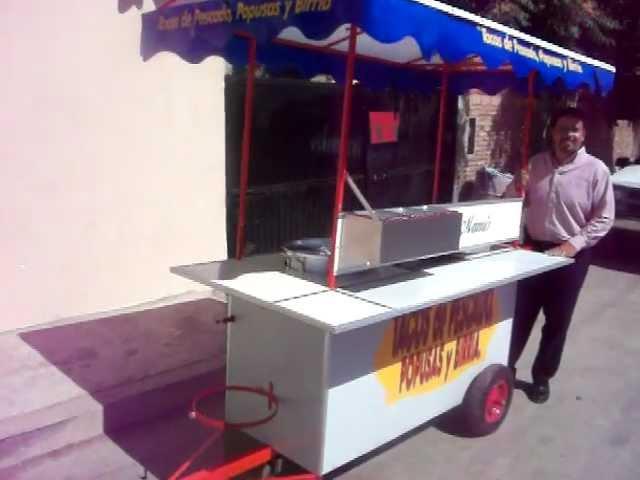 Carritos para venta de tacos de pescado y popusas, asi como Birria 01 800 CARRETA.MOV