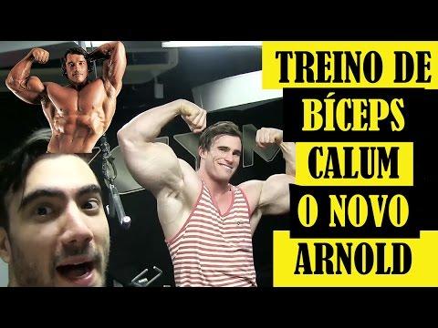 Esmagando Bíceps com Calum Von Moger - O Novo Arnold Schwarzenegger