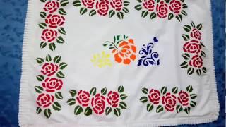Stencil magic fabric painting tutorial