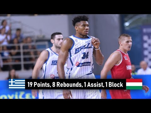 Giannis Antetokounmpo vs. Hungary | 19 pts, 8 rebs, 1 ast, 1 block - (Greece - Hungary 83-59)