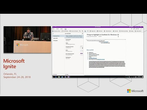 Get started with Microsoft OneNote for Windows 10 - BRK2120