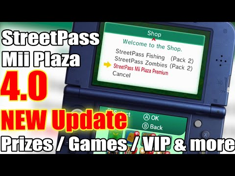 StreetPass Mii Plaza Update 4.0 - All Prizes / Games / VIP & more