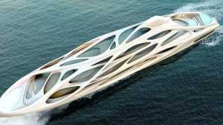 Modern Industrial Design - Unique Circle Yacht by Zaha Hadid