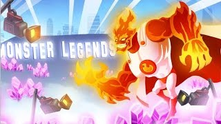 Monster Legends - The Firestorm (Nivel 1 al 100) + Combate