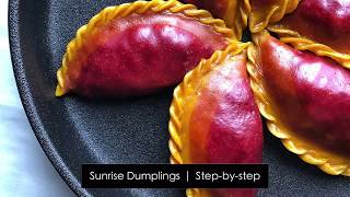 Vegan Sunrise Dumplings Recipe Natural Food Coloring 饺子