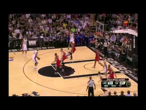 Tim Duncan 26 points vs LA Clippers full highlights game 1 semi-finals NBA Playoffs 2012.05.15