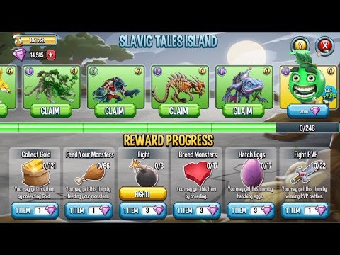 Monster Legends - Gemmed Review - Slavic Tales Island - How to Getting all